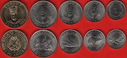 Tonga Set Of 5 Coins: 5 Seniti - 1 Paanga 2015 UNC - Tonga