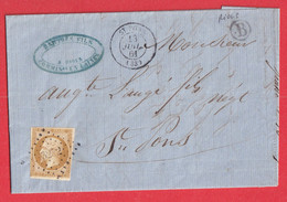 N°13 PC 3252 ST PONS HERAUT POUR ST PONS BOITE RURALE B RIOLS - 1849-1876: Classic Period