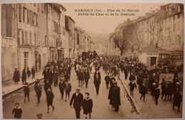 BARJOLS - Fête De St Marcel - Défilé Du Char Et De La Musique - Barjols