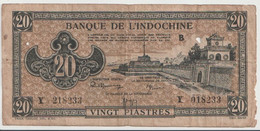 FRENCH INDOCHINA  P. 70 20 Ps 1942 G - Indochina