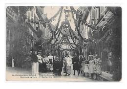 DEP. 03 ST-POURCAIN-SUR-SIOULE - RUE DES BOUCHERIES PAVOISEES - CONCOURS AGRICOLE - 17 SEPTEMBRE 1905 - Andere Gemeenten