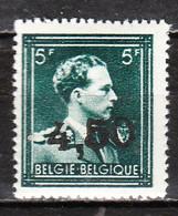 724W**  Leopold III Col Ouvert Surchargé GHISLENGHIEN - Bonne Valeur - Timbre Signé - MNH** - LOOK!!!! - 1946 -10%