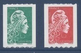 N° 1601 & 1602 Marianne L'engagée Adhésif Roulette Année 2018 Faciale LV+LP - Adhesive Stamps