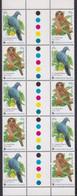 Christmas Island 2002 Birds Sc 437 Mint Never Hinged Gutter Pane - Christmas Island