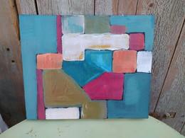 Tableau Composition Abstraite Abstrait Contemporain - Acrilicos