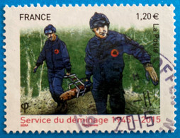 France 2015 : 70e Anniversaire Du Service De Déminage N° 4927 Oblitéré - Usati