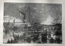 Turquie - Constantinople - Le 14ième Anniversaire De L'avénement Du Sultan - Page Originale - 1875 - Documents Historiques