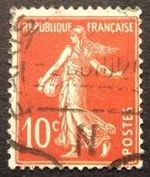 138 ° 56 Paris N Ondulé Semeuse 10c Rouge Oblitéré - 1877-1920: Semi-Moderne