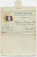 CARTE LETTRE MILITAIRE DRAPEAUX AVIS OFFICIEL TRESOR POSTES 126 22.11.1915 - Lettere In Franchigia Militare
