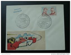 Lettre Cover Cinquantenaire Atterrissage Eugène Renaux Au Sommet Du Puy De Dome Clermont Ferrand 1961 - Airplanes