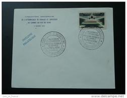 Lettre Cover Cinquantenaire Atterrissage Eugène Renaux Au Sommet Du Puy De Dome Clermont Ferrand 1961 - Air Post