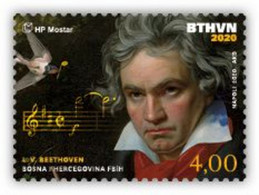 2020 The 250th Anniversary Of The Birth Of Ludwig Van Beethoven, N° 558, Croat Post Mostar, Bosnia And Herzegovina, MNH - Bosnien-Herzegowina