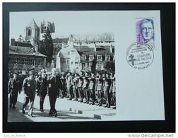 Carte Maximum (photo) General De Gaulle Bourges 1990 - De Gaulle (Generaal)