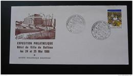 Lettre Cover Compagnie Nationale Du Rhone Barrage Dam Expo Philatélique Bollène Vaucluse 1986 - Elektrizität