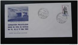 Lettre Cover Exposition Philatélique Centre Georges Brassens Bollène Vaucluse 1982 - Briefe U. Dokumente