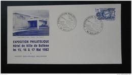 Carte Exposition Philatélique Centre Georges Brassens Bollène Vaucluse 1982 - Briefe U. Dokumente