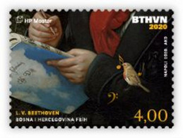 2020 The 250th Anniversary Of The Birth Of Ludwig Van Beethoven, N° 559, Croat Post Mostar, Bosnia And Herzegovina, MNH - Bosnien-Herzegowina