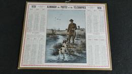 Almanach Des Postes Et Télégraphes 1920 - Apporte -- Chasse Aux Canards - Bon état Complet- Calendrier - Big : 1901-20