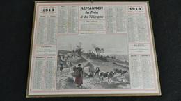 Almanach Des Postes Et Télégraphes 1913 - Dans Les Hameaux De L' Argoat  - Bon état Complet- Calendrier - Big : 1901-20