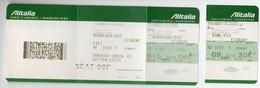 (aviation) Billet ALITALIA + 2 Cartes D'embarquement (lot De 3 Documents)   (PPP27825) - Unclassified