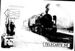 L'ISLE Sur TARN - Série Télé Cartes -La 141TD En Gare - Lisle Sur Tarn