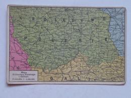 Poland 135 Map Mapa Krolestwo Polskie 1915 - Pologne