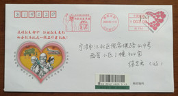 CN 20 Yueyang Fight COVID-19 Novel Coronavirus Pneumonia Registered PSE,Saluting Heroes Metter Franking Propaganda PMK - Enfermedades