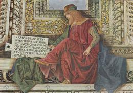 CARTOLINA  LORETO,MARCHE,MELOZZO DA FORLI 1477-1493,SAGRESTIA DI S.MARCO-IL PROFETA  AMOS,CULTURA,MEMORIA,NON VIAGGIATA - Ancona