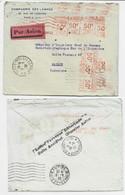 EMA 50C X9 A 1287 LETTRE COVER AVION PARIS 1932 POUR SAIGON AU TARIF 4FR50 + GRIFFE AU DOS ACCIDENT COURRIER  AVION RARE - Freistempel