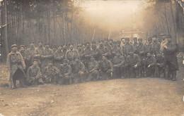 Elbeuf         76        Groupe De Militaires Carte Photo  Lire  Texte Au Recto         (voir Scan) - Elbeuf