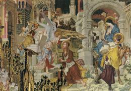 CARTOLINA  LORETO,MARCHE,L.SEITZ 1892-1902,CAPPELLA TEDESCA-SEGNO DI S.GIUSEPPE E FUGA IN EGITTO,MEMORIA,NON VIAGGIATA - Ancona