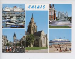 Calais Multivues, Bourgeois, Bd Jacquard, Port Plage, église Mariage De Gaulle - Sealink Ferries  (n°152artaud) - Calais
