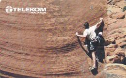 MALAYSIA(chip) - Mountain Climbing, Telecom Malaysia Telecard RM10, Chip GEM3.1, Used - Malaysia