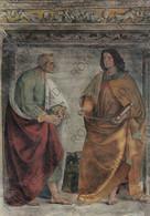 CARTOLINA  LORETO,MARCHE,L.SIGNORELLI (1491-1496)SAGRESTIA DI S.GIOVANNI-DUE APOSTOLI,STORIE,CULTURA,NON VIAGGIATA - Ancona
