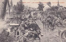 Sempst 1914 Les Carabiniers Mitrailles Aux Avant-postes Chiens Attellage Mitrailleuse - Guerra 1914-18