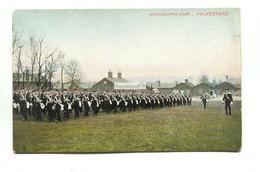 Shorncliffe Camp, Near Folkestone - Soldiers, Drill - Old Kent Postcard - Folkestone