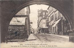 8006. LUXEUIL-les-BAINS . VUE PRISE DE LA MAISON DE FRANCOIS 1er .OBLIT CONVOYEUR DU 25-6-1929 . 2 SCANES - Luxeuil Les Bains