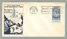 1934 FIRST DAY COVER BYRD IMPERFORATE STAMP - Covers & Documents