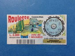 ITALIA LOTTERIA BIGLIETTO GRATTA E VINCI USATO L 2000 ROULETTE CAMPIONE D'ITALIA LOTTO 143 ITALY LOTTERY TICKET - Billetes De Lotería