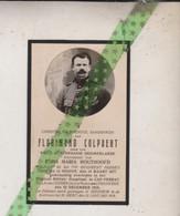 Florimond Colpaert-Houthoofd, Ninove 1877, Cap-Ferrat (Fr) 1918; Soldaat 1e Regiment Gidsen, WW1, WO1 - Overlijden