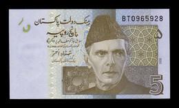 Pakistán 5 Rupees 2008 Pick 53a SC UNC - Pakistan