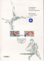 Germany Special Numbered First Day Sheet - Table Tennis, Gymnastics - Table Tennis