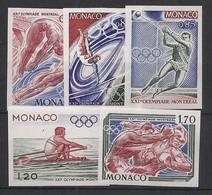Monaco - 1976 - N°Yv. 1057 à 1061 - Olympics - Non Dentelé / Imperf. - Neuf Luxe ** / MNH / Postfrisch - Varietà