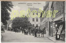 Arenberg (Koblenz) Hauptstraße Mit Ansichtskartengeschäft, Pferdekutsche, 1908 - Koblenz