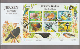 Jersey FDC 2007 Birdlife - Garden Birds Souvenir Sheet (LG5) - Sonstige