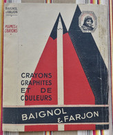 62 BOULOGNE Ancien Protege Livre D'Ecole PUBLICITAIRE BAIGNOL & FARJON Porte Plumes Plumes Gommes - Book Covers