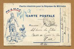 CARTE EN FRANCHISE MILITAIRE (1915)  Ed. Garestian à Grasse - Guerra Del 1914-18