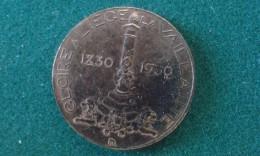 1930, Gloire A Liege La Vaillante, 6 Gram (med334) - Elongated Coins