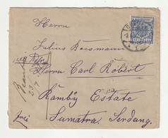 0766 / Deutsches Reich - 1899 - Mi. 48 EF Auf Brief Ex Dresden Nach Sumatra (Destination !) / € 1.00 A - Covers & Documents