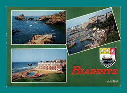64 Biarritz ( Multivues, Blason, Baleine, Coquillage, Coquille Saint Jacques ) 100 - Biarritz